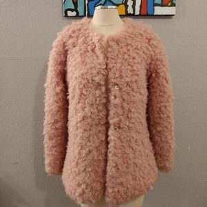Collection by Bernardo Pink Faux Shearling Coat